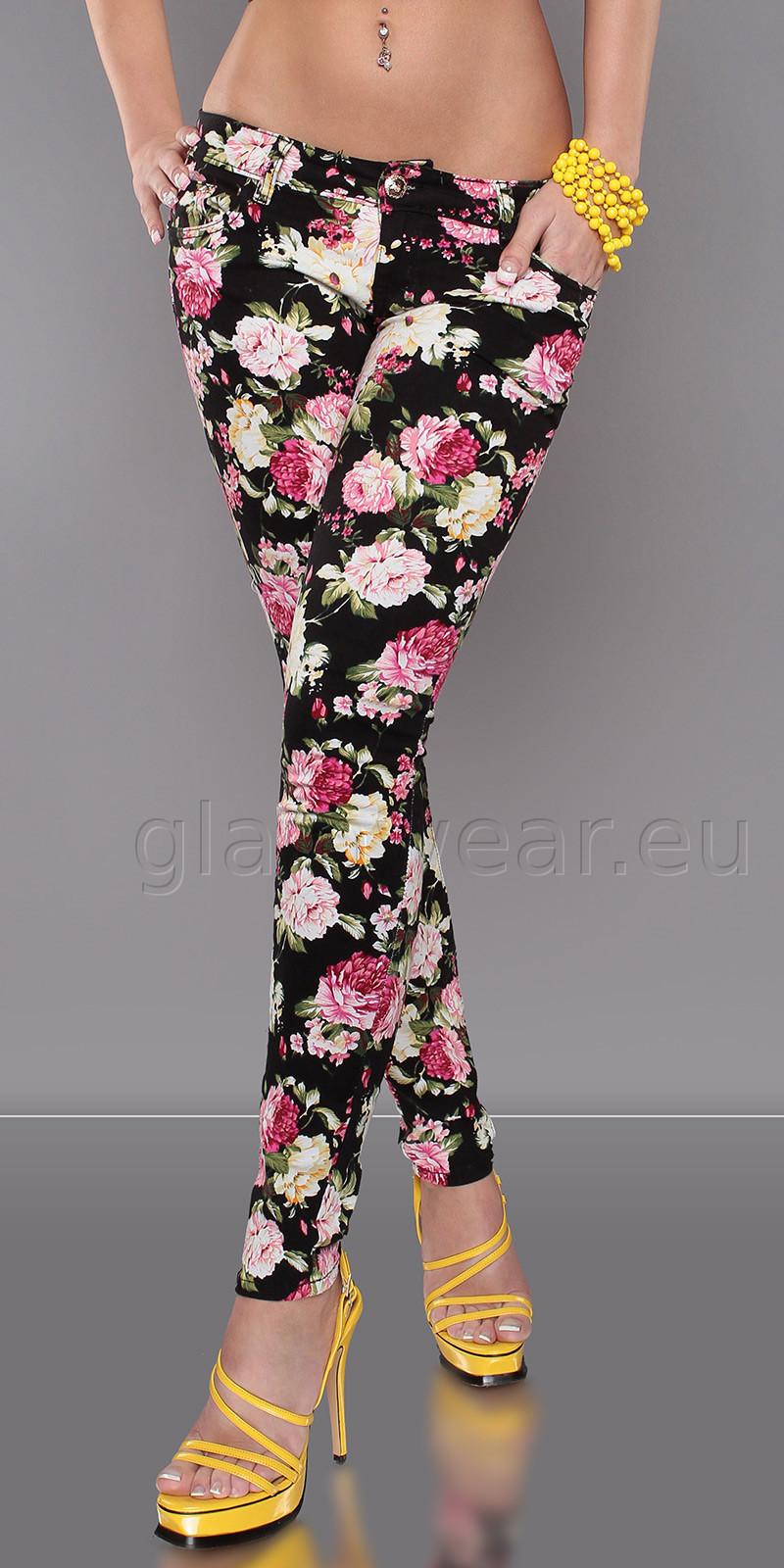Брюки с цветами женские фото